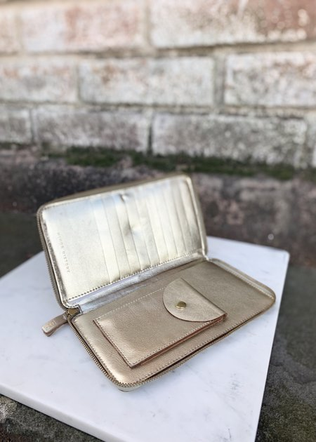 Minor History Tall Coupe Wallet - Metallic Gold