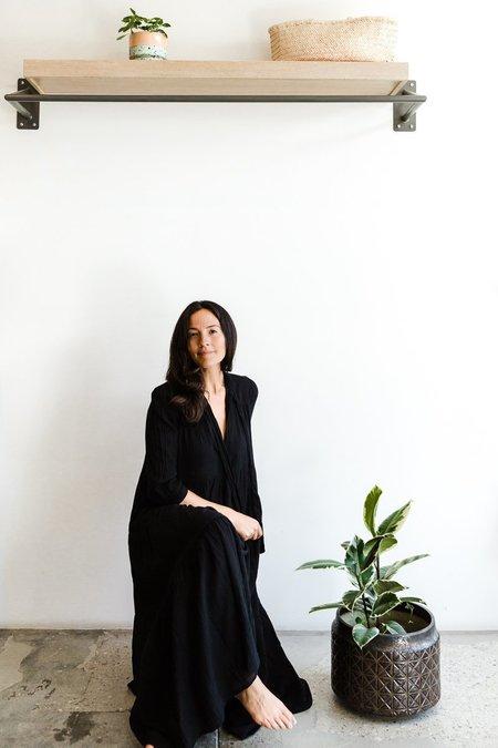 Honorine Giselle Long Dress - Black