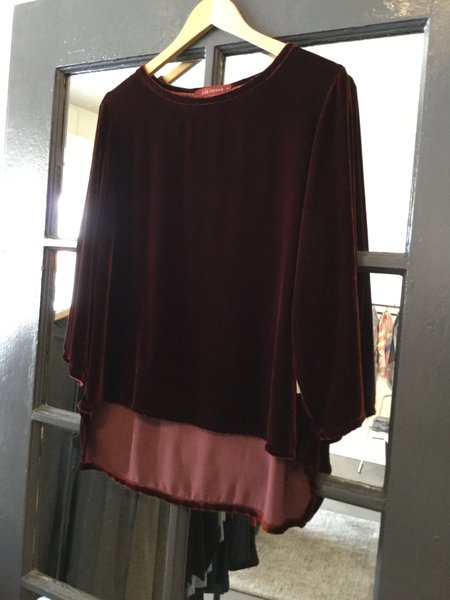 cut-loose Velvet Blouse
