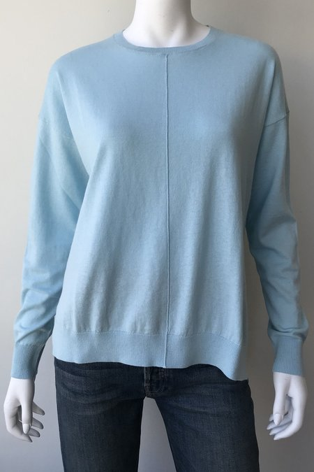 Closed Crew Neck Knit Top - blue