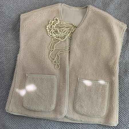 April Meets October November Vest - Oat