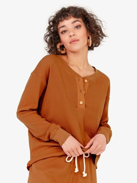 MATE The Label Elliot Thermal Top - Amber