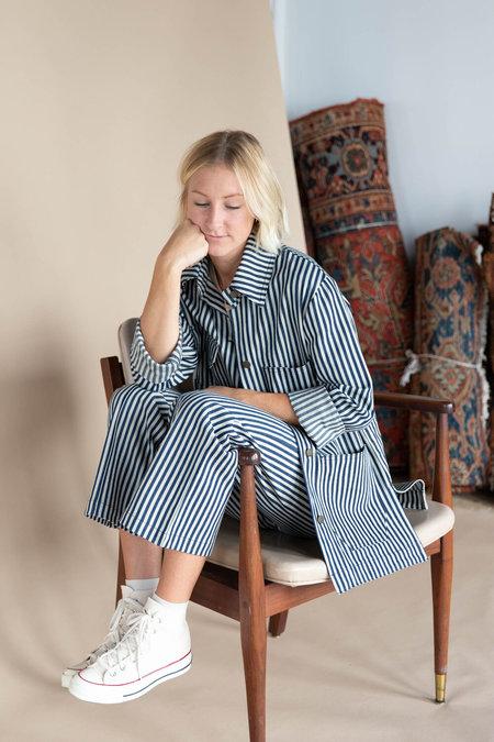 Lykke Wullf Redwood Chore Coat - Stripe Denim