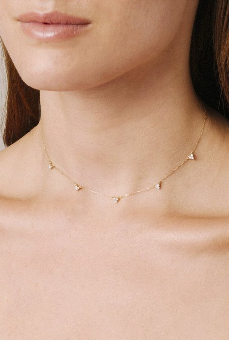 Adina Reyter 5 Cluster Chain Choker - 14k gold
