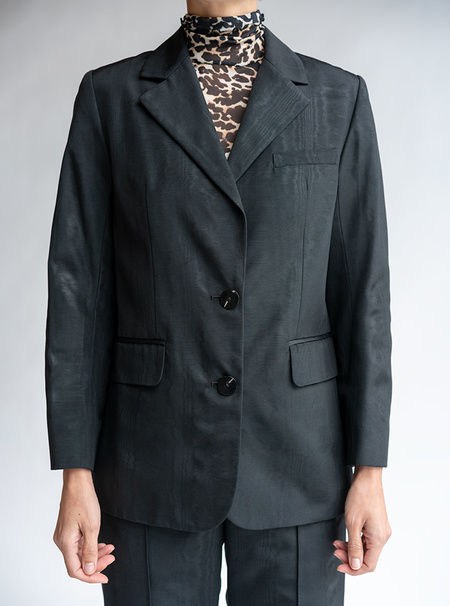 No.6 Leon Blazer - Black Moire