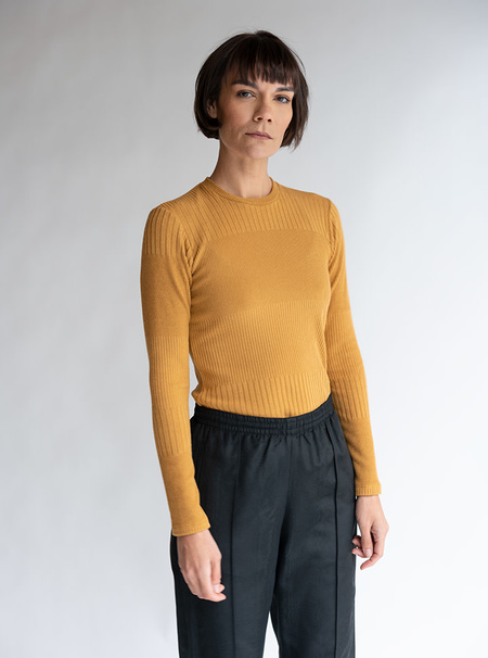 No.6 Stellan Crewneck - Bronze Knit Rib