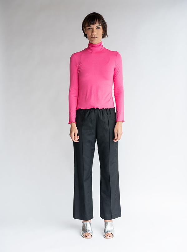 No.6 Rumi Turtleneck - Pink Knit Jersey
