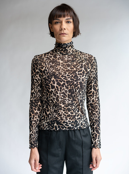 No.6 Rumi Turtleneck - Leopard Mesh