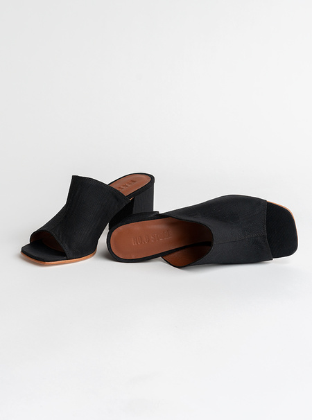 No.6 Dora Mule - Black Moire