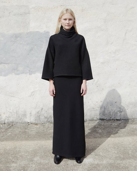 Esby Nina Top - Black Rib