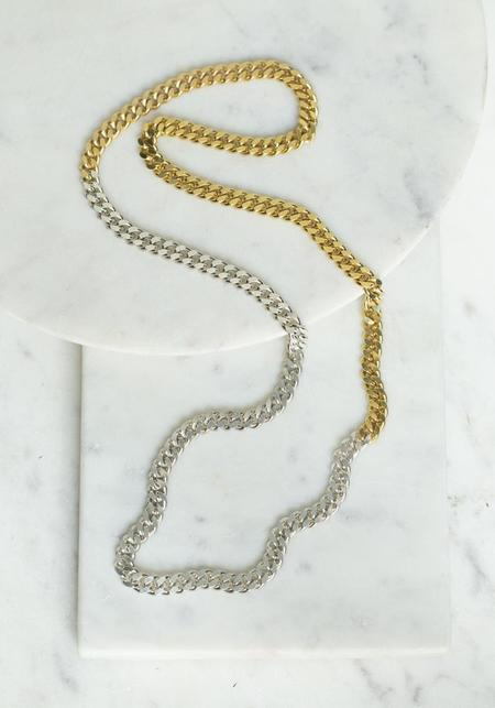 Saskia Diez Grand Sterling Silver and Gold Plate Chain Necklace