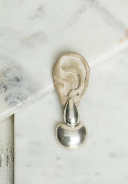 Annika Inez Puffed Curio Earrings - Sterling Silver