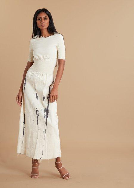 I.AM.ISIGO Short Sleeve Ruched Dress