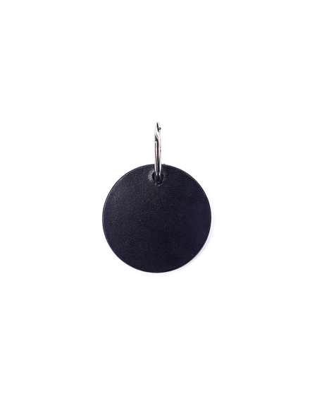 Ann Demeulemeester Leather Keyring - Black