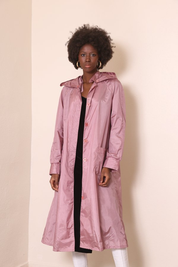 """INTENTIONALLY __________."" ARCHIVE 0258 TRENCH RAINCOAT - DUSTY ROSE"