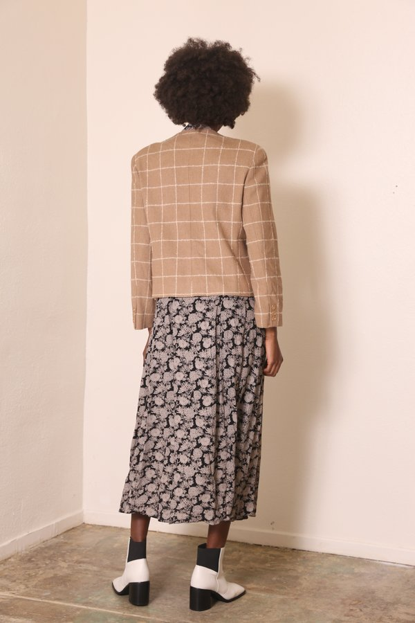 """""""INTENTIONALLY __________."""" ARCHIVE 0265 GRID COAT - BEIGE"""