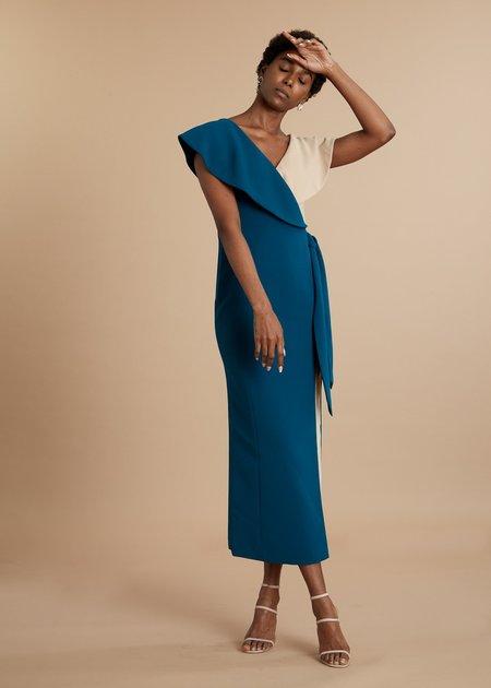 Clan Mali Wrap Dress - Teal