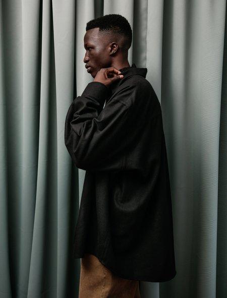 Our Legacy Borrowed Wool Shirt - black