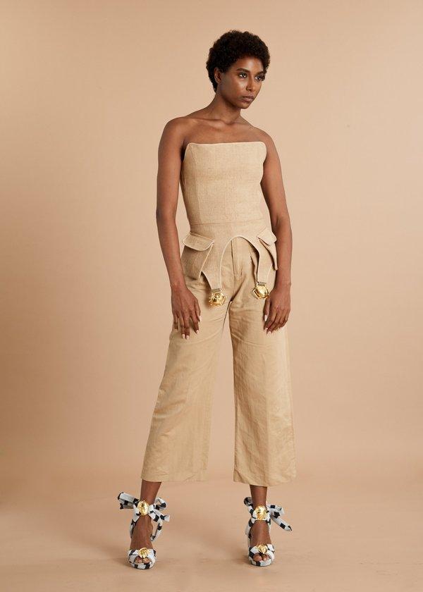 Loza Maleombho Abla Sandals - black/white stripe