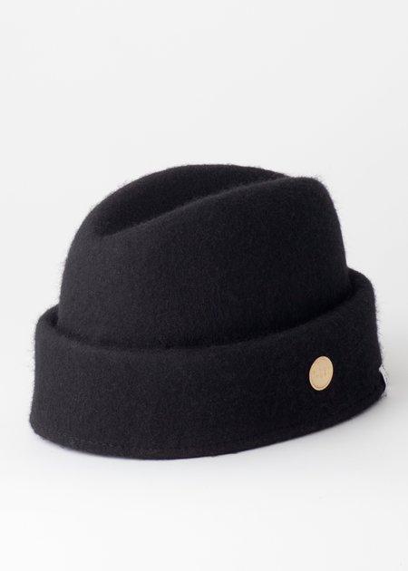 Unisex Simon and Mary Fez Military Hat - Black