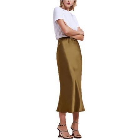 Olivia Von Halle Isla Skirt - bronze