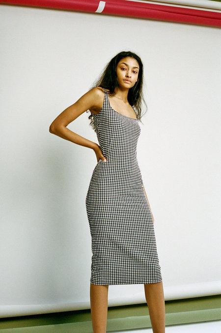 Maryam Nassir Zadeh Salma Dress - Black/White Gingham