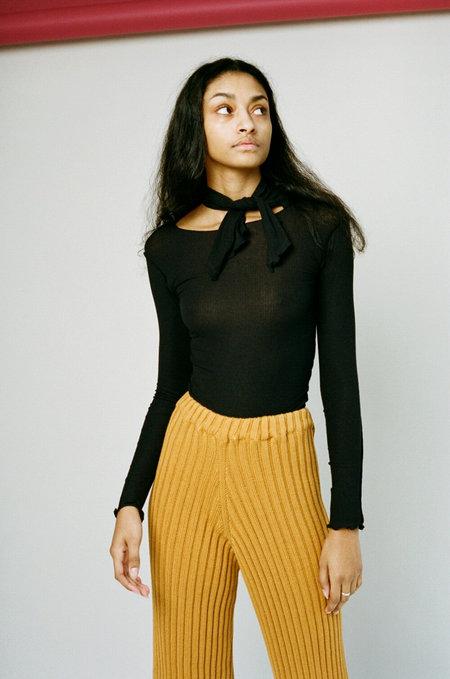 Baserange Pava Long Sleeve Top - Black