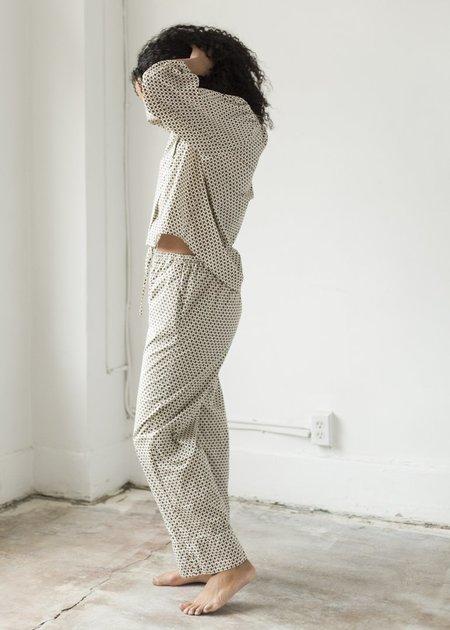 Deiji Studios Cotton Drawstring Pant - Block Print
