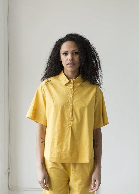 Deiji Studios Cotton Golfing Shirt - Mustard