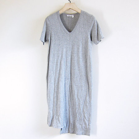 Wilt Slim Shifted Elbow Sleeve Dress - Grey Heather