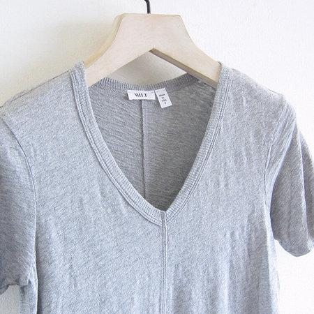 Wilt Slim Shifted Elbow Sleeve Dress - Grey Heather