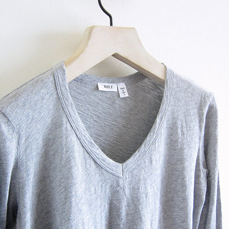 Wilt Sexy Deep V Top - Grey Heather