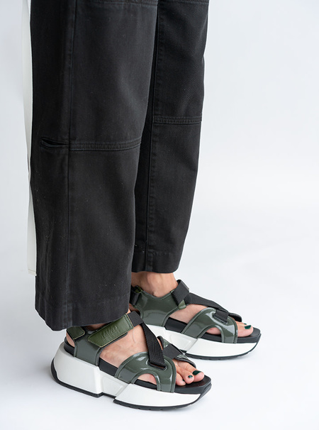 MM6 Maison Margiela Multi Strap Sandals - Military Green