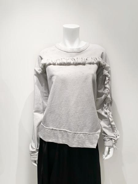 ILaria Nistri cotton sweater with ruffle detail