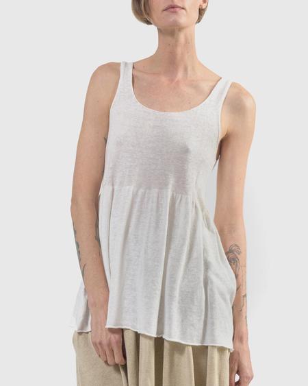 Lauren Manoogian Tier Tank Top - White