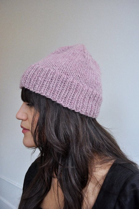 Cocobolo Wool Knit Toque - Lilac