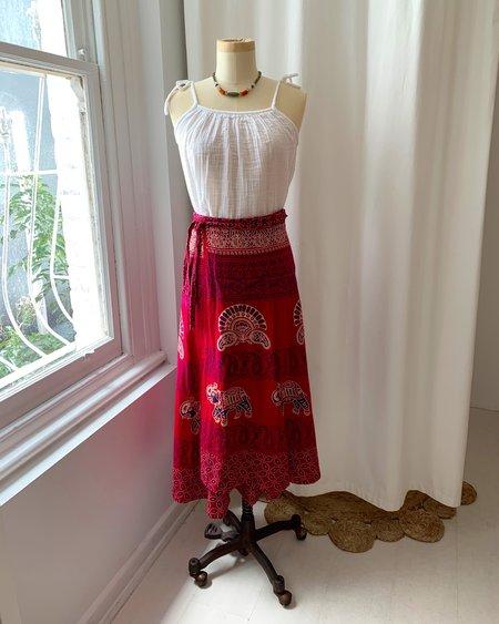 Vintage Wrap Skirt - Magenta