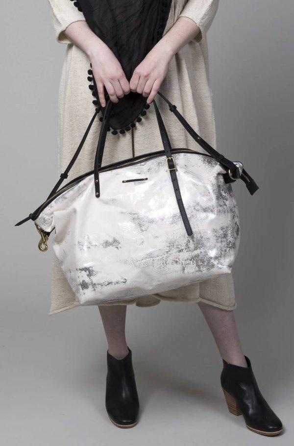 Kempton & Co Large Canvas Crossbody Bag - Silver Splatter