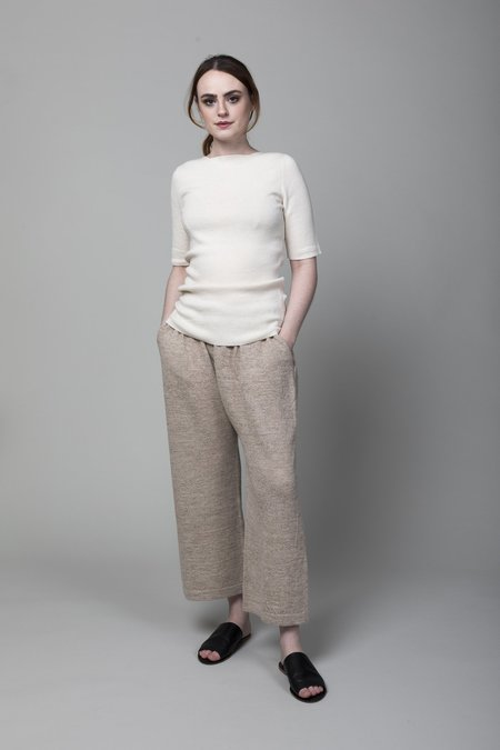 Lauren Manoogian Peg Pants - Marl Flax
