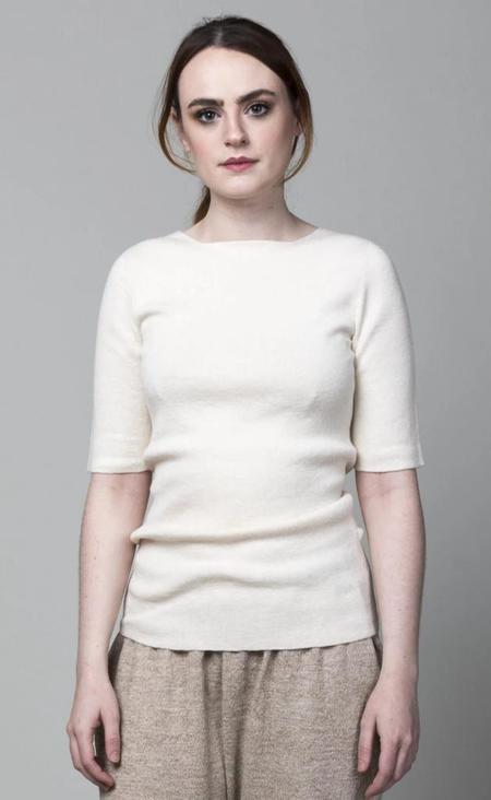 Lauren Manoogian Rib Tee - Raw White