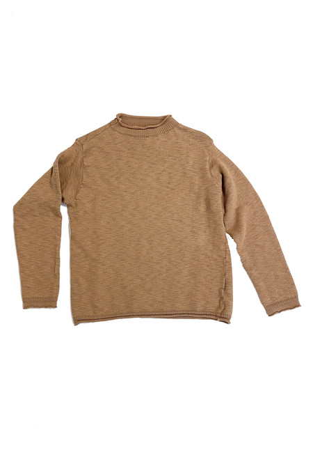It Is Well L.A. Cotton Mockneck Sweater - Camel