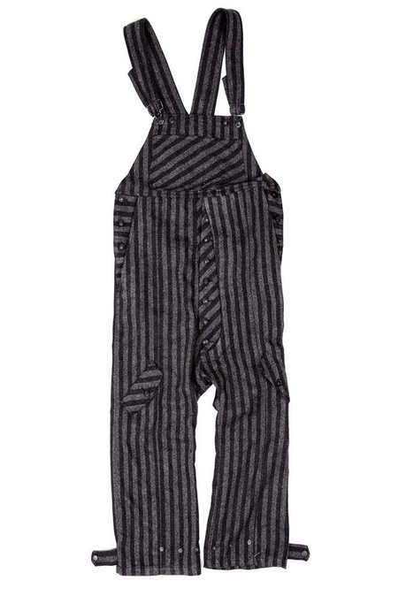 Fried Rice Overall - Black/Charcoal Pinstripe