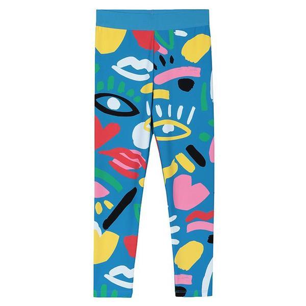 kids Stella McCartney Leggings With Graphic Face Print - blue