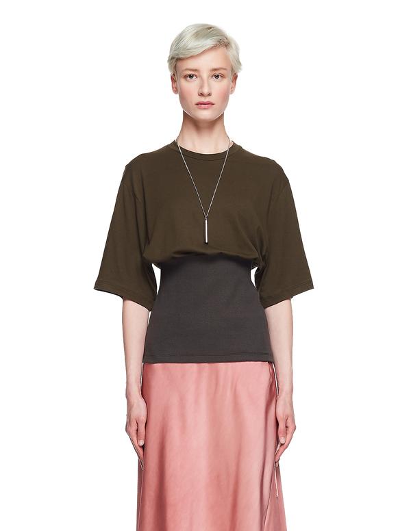 Haider Ackermann Cotton/Ramie T-Shirt - Dark Green
