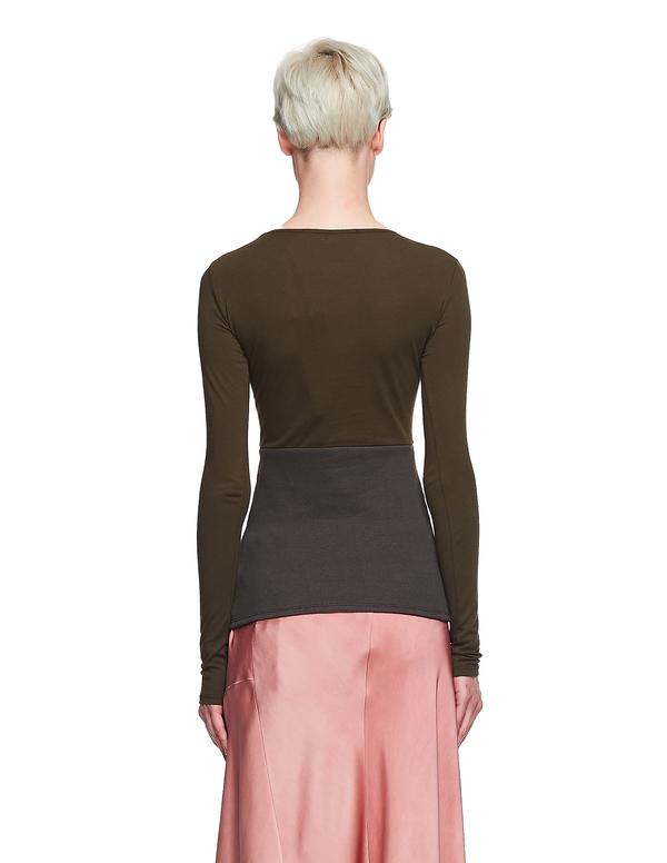 Haider Ackermann Cotton/Ramie L/S T-Shirt - Green