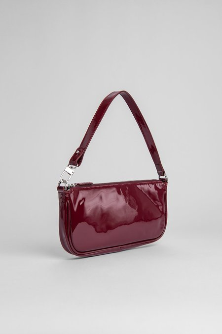 BY FAR Rachel Bag Patent Leather - Burgundy