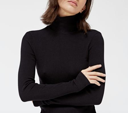 Lacausa Sweater Rib Turtleneck - Tar