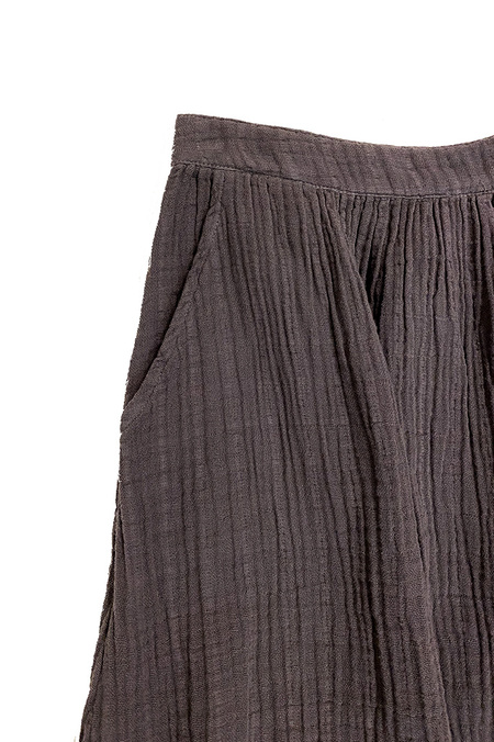 It Is Well L.A. Midi Cotton Frayed Skirt - Pewter