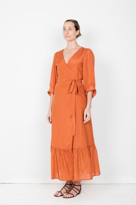 Pley Penelope Wrap Dress - Monarch Orange