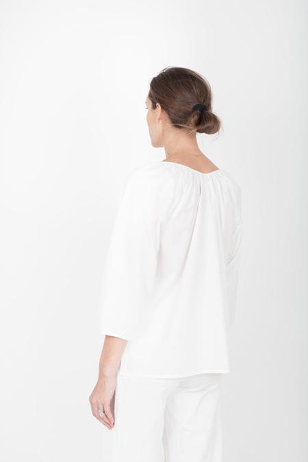 Pley Claudine V Neck Popover - White